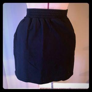 American Apparel black mini skirt w/ pockets